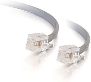 C2G/Cables to Go 09593 RJ11 6P4C Straight Modular Cable, Silver (50 Feet/15.24 Meters)