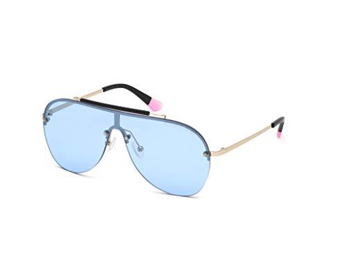 Victoria's Secret VS0012 Occhiali, Shiny Rose Gold/Blue Mirror, 00 Donna