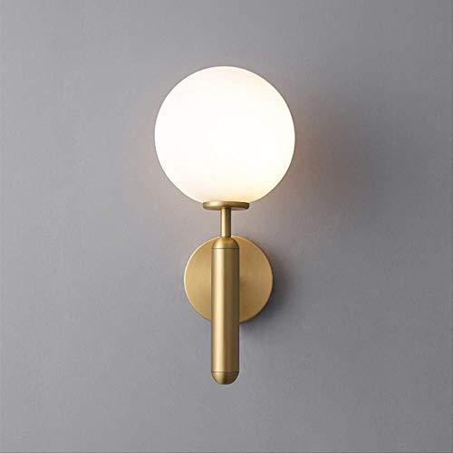 LED wandlampen Nordic glas bal wandlamp Up Down badkamerspiegel licht wandlamp rond 13x34cm goud
