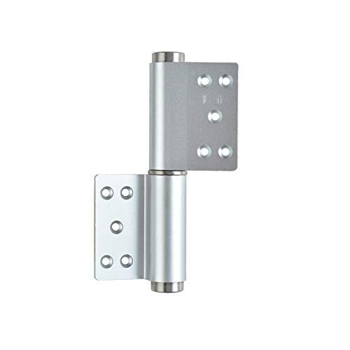 Bisagras Puertas Bisagra de aleación de aluminio Agusor de la bisagra hidráulica del eje Cojín automático de la puerta del cierre de la bisagra silenciosa Puerta de amortiguación Closer Hinge-2 paquet