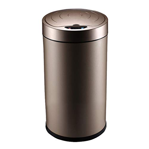Küchen-Mülleimer, Intelligenter Sensor-Innenabfalleimer, Automatisches Wohnzimmer-Schlafzimmer-Badezimmer-Innenrecycling-Behälter Schwarz, Gold, Rose Gold-8L , 12L ( Farbe : Gold , größe : 12L )