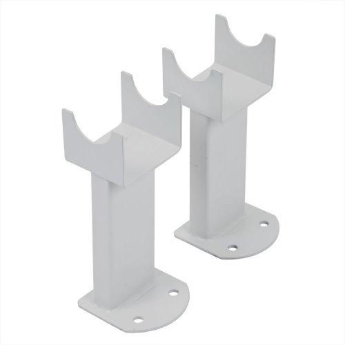 Hudson Reed Conjunto de Montaje a Suelo para Radiadores Revive, Sloane y Savy con Columnas en Blanco