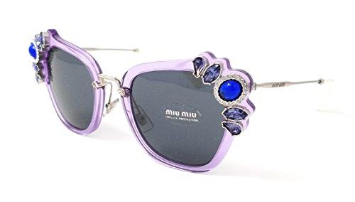 Miu Miu 0MU03SS U691A1 51 Gafas de sol, Morado (Lilac/Grey), Mujer