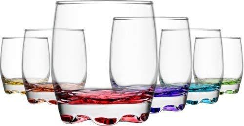 Lav ADR15 Coloure - Vasos de whisky (290 ml, 6 unidades), vidrio