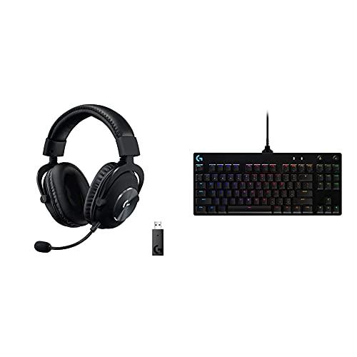 Logitech G Pro X Casque sans Fil Lightspeed + Logitech G Pro TKL Tenkeyless Clavier Gaming Mécanique