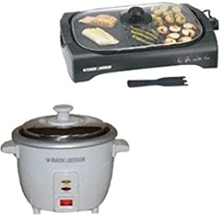 Black & Decker Life Style Grill 2200W And 0.6L Rice Cooker (Model:LGM70 RC600 )