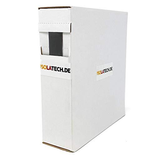Mini Box 3:1 Schwarz 12mm 5m Schrumpfschlauch Rolle in praktischer Spenderbox von ISOLATECH