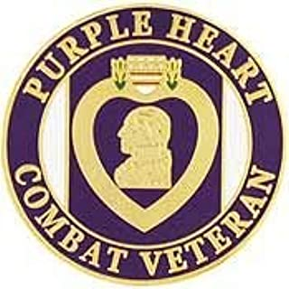 Purple Heart Combat Veteran - Officially Licensed Original Artwork, Expertly Designed, PIN - 1