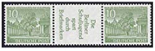 Goldhahn Berlin Zusammendruck W24 postfrisch  Bauten 1952 (10+R3+10) Briefmarken für Sammler
