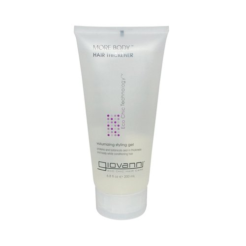 GIOVANNI COSMETICS More Body Hair Thickener Volumizing Styling GEL - More Body And Thickness Exactly Where You Need It And Want It (6.8 Ounce/200 Milliliter)