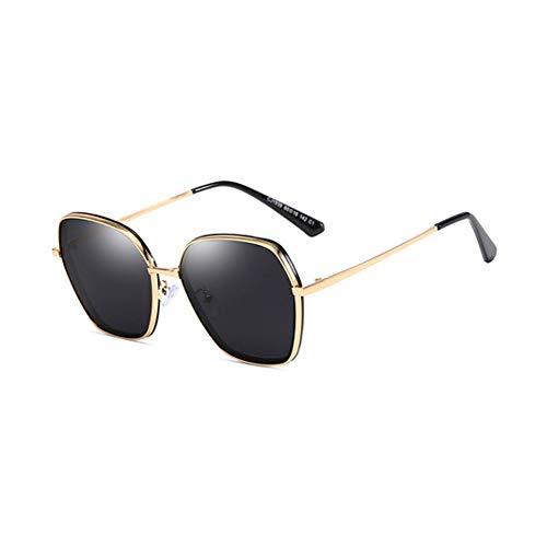 H.ZHOU 1939 - Gafas de Sol para Mujer, Metal + TAC Retro Personalidad, protección UV400, antiUV, polarizadas, para Conducir/Viajar/al Aire Libre, Z-1