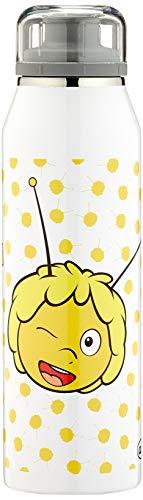 alfi 5677.126.050 Isolier-Trinkflasche isoBottle, Edelstahl Biene Maja Weiß 0,5 l, 12 Stunden heiß, 24 Stunden kalt, Spülmaschinenfest, BPA-Free