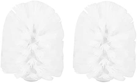 Teean Vervangende accessoires voor badkamer kunststof wcreinigingsborstels wit 2 x witte koppen