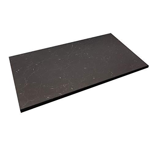 WORKTOPEXPRESS Schwarzer Marmor Arbeitsplatte, Westag & Getalit Küchenarbeitsplatten 39mm stark (3050mm X 600mm X 39mm)