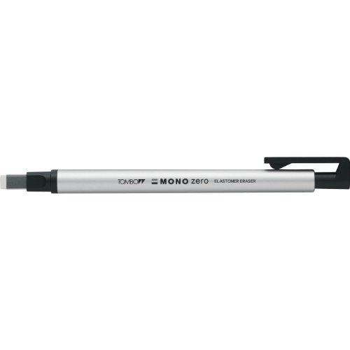 トンボ鉛筆 ホルダー消しゴム モノゼロ 角型 シルバー EH-KUS04 【5セット】
