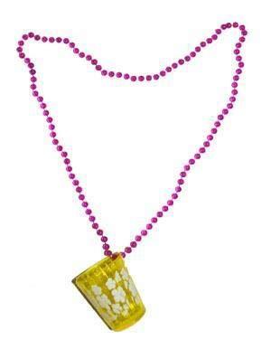 Fiesta Palace - Collar con cristal de chupito de flores