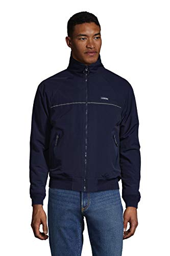 Lands' End Mens Classic Squall Jacket Black Tall X-Large