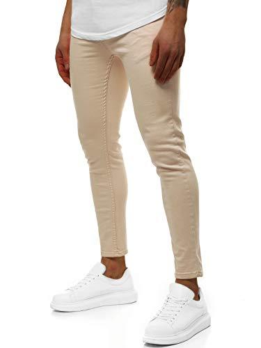 OZONEE heren jeans broek herenjeans jeans spijkerbroek skinny Röhenjeans biker stretch regular slim fit rechte sportjeans cargobroek cargo destroyed wash look pants DP/583