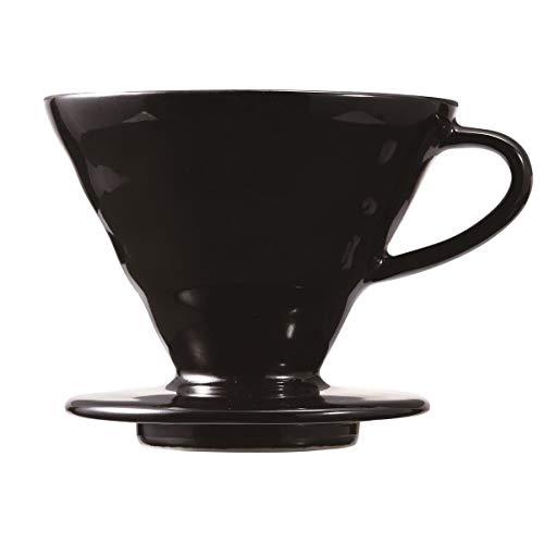 Hario Ceramic V60-02 - Cafetera eléctrica (cerámica), color negro mate