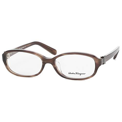 [フェラガモ 眼鏡フレーム アイウェア レディース 52サイズ ブラウン アジアンフィット Salvatore Ferragamo SF2769A 216 ブランドフレーム オーバル] [並行輸入品]