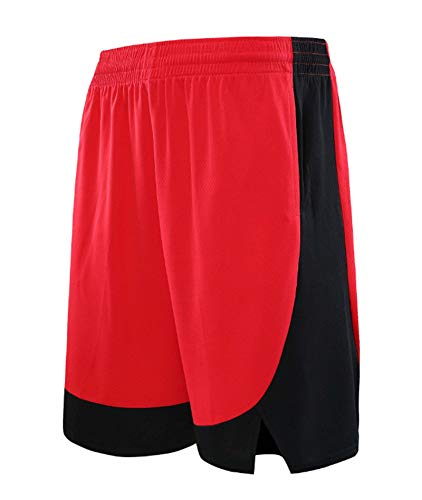 ZJFSL Hombre Jersey Rockets Pantalones De Baloncesto Pantalones Cortos Deportivos para Competición De Bordado Amarillo Pantalones