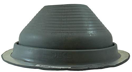 Scopri offerta per #7 (DF107G) tubo flessibile rotondo grigio EPDM lampeggiante Dektite adatto per tubi OD da 15,2 cm a 27,9 cm, stivale: – cric per tetto in metallo – tubo lampeggiante in metallo – Deks Dektite