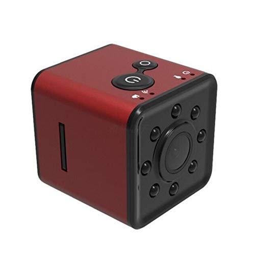CXSD Cámara espía Wifi oculta, la cámara de vigilancia de seguridad más pequeña 1080P Full HD, mini cámara inalámbrica portátil, cámara web de monitoreo remoto (color: rojo, tamaño: 32 g)