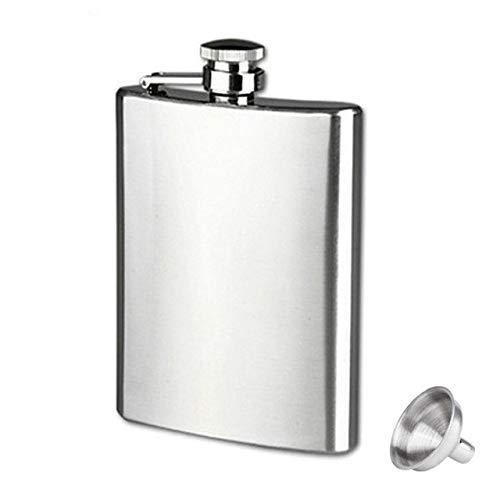 Bumpy Road Edelstahl-Flachmann mit Trichter für Alkohol-Whisky-Wein 4-18 OZ Tragbare Taschenflaschen für den Außenbereich Alkoholflasche