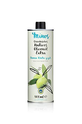 Minos Naitves Olivenöl extra Chania Kreta g.g.A. Dose, 1er Pack (1 x 500 ml)