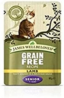 James Wellbeloved Lamb Senior Pouch 85g x 12 (850g) (Pack of 2)