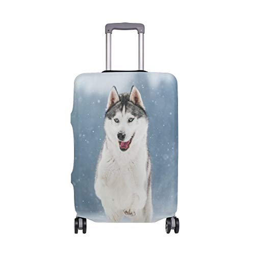 Divertido Equipaje de Viaje para viajeros Husky Siberiano con Ruedas giratorias Maleta de Equipaje...
