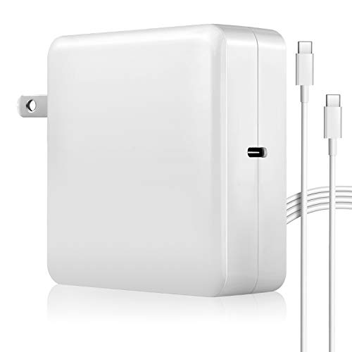61W USB-C Charger for Mac Book Air with Fast Charging, Replacement Power Adapter 61W Charger with USB-C to USB-C Cable