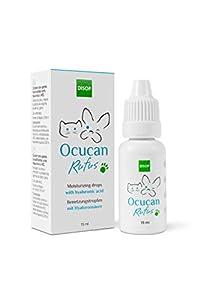 Ocucan Gotas Hidratantes Para Ojos de Perros y Gatos. Gotas Humectantes con Ácido Hialurónico - 15 ml