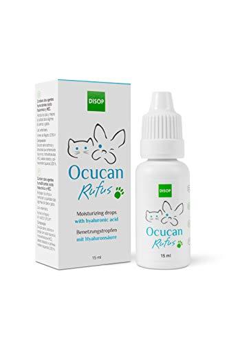 Ocucan Augentropfen mit Hyaluronsäure. Ocucan Feuchtigkeitstropfen, Augenbefeuchtung beim Hund - 15 ml