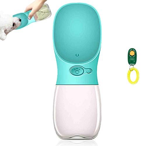 AMAYGA Botella de Agua para Perro,Botella Portátil de Agua Potable para Mascotas al Aire Libre, Resina Plástica ABS Ambiental (Azul)