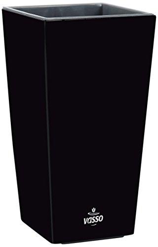 Vasso Kalika Vina Smart Pot Noir 9,5 x 9,5 x 18,5 cm