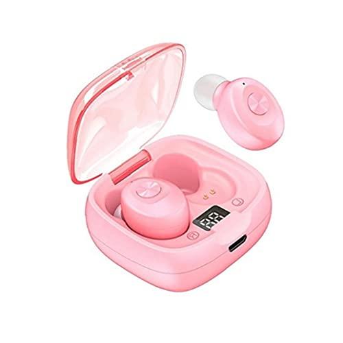 Tuimiyisou Auriculares Bluetooth Wireless XG8 En la Oreja los Auriculares estéreo Mini Touch Control Estable y no es fácil de dañar Sonido a Prueba de Agua para Running Sport Rosa