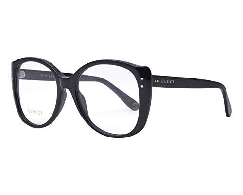 Gucci Unisex – Erwachsene GG0474O-001-54 Brillengestell, Schwarz Glänzend, 54