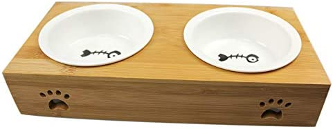 Ptlom Dog and Cat Feeding and Water Bowl Set Feeding Tableware Suitable for Small and Medium product image