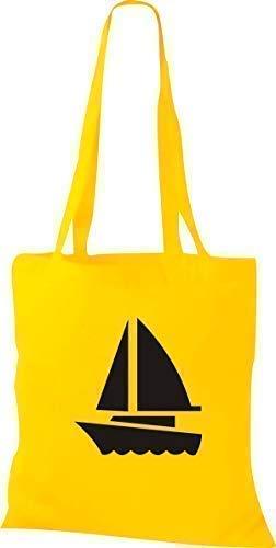 Shirtstown Yute Bolsa de Tela Barco de Vela, Bote, Skipper, Capitán -...