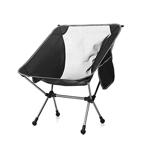 Silla de camping plegable portátil con portavasos ideal para senderismo, barbacoa, picnic, playa, carga máxima 150 kg