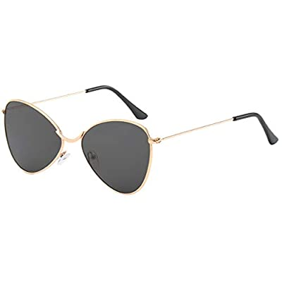 SUNyongsh Sunglasses for Men Women Polarized Metal Mirror Semi-Rimless Frame Glasses