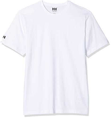 Helly Hansen Camiseta para Hombre Crew White, 4XL