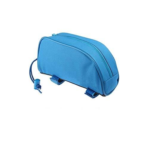 Bolsa impermeable de PVC al aire libre MTB Bicicleta de Carretera Bicicleta de Ciclismo Marco de Bicicleta Frontal de Tubo Superior de Paquete de Bicicleta de Viga Sillín Bolsa de herramientas, azul