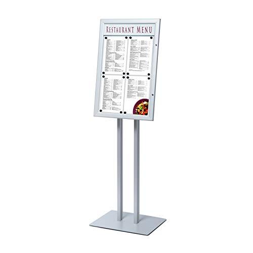 Danieli | Bacheche da esterno autoportante con serratura | Espositore Leggio Porta Menu e Affissioni Con Pannellino Personalizzabile (4 x A4 LED)