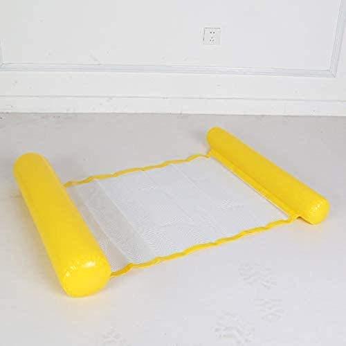 Ceiling Pendant Coussin de Repos Voiture Gonflable Matelas Gonflable Eau Hamac Eau Gonflable Flottant Lit de Natation gonflables Hamac Gonflable Flottant Ligne (Color : Yellow)