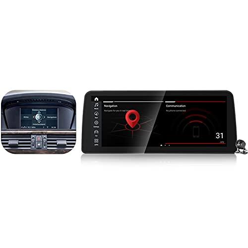 Buladala Qualcomm Android 11 Radio Estéreo para Coche para BMW 5 Series E60 E61 E62 2004-2010 GPS Navigator Pantalla de 12.3'' Unidad de Cabezal Soporta Carplay Auto SWC CD DVD DSP,CCC,662: 6+128 GB