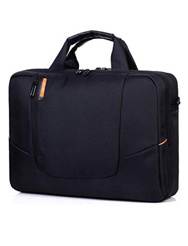 Laptop Shoulder Bag 15.6 Inches Black - Mens Messenger Bag Laptops Computer Carry Case 15.6'