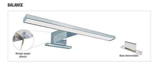 FOCO BALANCE-LED ESPEJO BAÑO ABS DISPONIBLE EN 4000K Y 6000K, 5W 300MM (6000K COLOR LUZ)