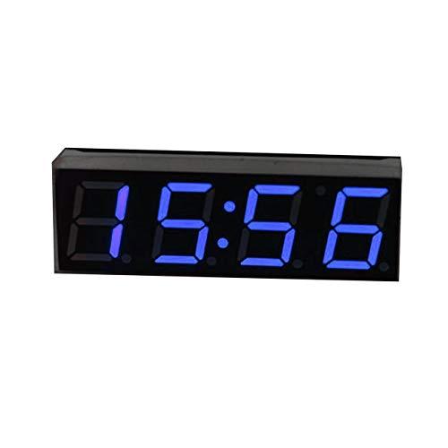 Ba30DEllylelly 3 en 1 LED Digital Reloj de Tiempo m¨®dulo de Voltaje de Temperatura Mini Volt¨ªmetro Term¨®Metro para Coche electr¨®Nico DIY